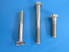5 Muttern Edelstahl + 5 Schrauben DIN 931 M10 x 80 mm  ISO 4014 Rostfreier Stahl