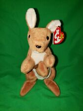 Pouch the Kangaroo Retired Ty Beanie Baby with Many errors PVC Pellets RARE