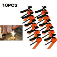 10Pcs Emergency Flint Fire Starter Bushcraft Steel Striker Survival Rod Camping