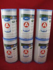 6 x Intex Filter Filterkartusche Typ A Kartusche 129000 Pool Frame Easy DACRON