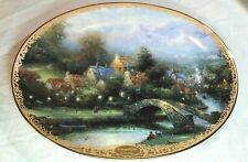 Thomas Kinkade Lamplight County Collectors Plate Fourth Issued Lamplight Village