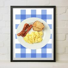 Ron Swanson Breakfast Poster Bacon Eggs Parks and Recreation Prop Gift Art Rec