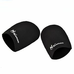 BLACK NEOPRENE TOE WARMER PAIR BOOTIES CYCLING RUNNING WALKING ICE BATH