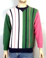 vtg 90s Tommy Hilfiger COLORBLOCK Striped Crew Sweater Crest McGregor Biggie S