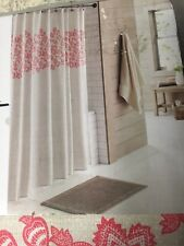 "Threshold Floral Fabric Shower Curtain 72"" x 72""  Tan/Coral"