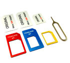 Convert Nano SIM Card to Micro Standard SIM Adapter Set for Nokia Lumia 640 XL