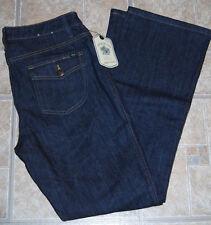 NWT Izod jeans bootcut 8 flap pockets Modern Fit dark blue wash womens stretch
