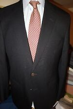 Samuelsohn Black Blazer Sport Coat Made Canada Size 41R Metal Buttons