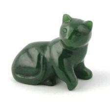Genuine Canadian Nephrite Jade Cat Laying Figurine - Multiple Sizes