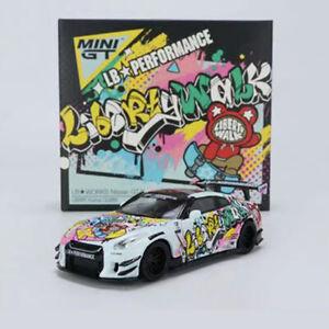 Mini GT 1/64 Nissan GTR LBWK Kuma Graffiti Die-Cast Vehicle Display Collection