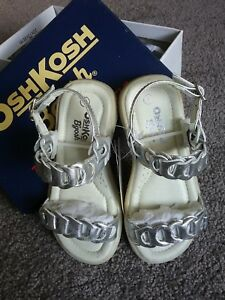 Girls OSH KOSH Silver Sandals Size US7 EU 22(1.5 - 3years)  Brand new -Twins?