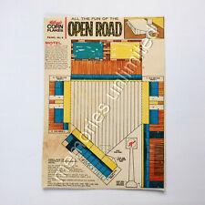 1960s Kellogg's CORN FLAKES OPEN ROAD BOX PANEL #6 kelloggs cereal r&l