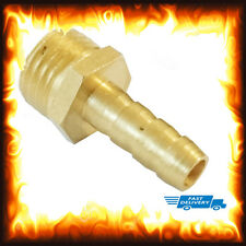 """1/4"""" BSP to 6mm Brass Male Barb Hose Tail Fitting Fuel Air Gas Water Hose Oil"""