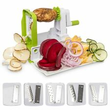 Lux Decor 5-Blade Vegetable Spiralizer and Slicer -Strong & Heavy Duty