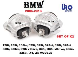 06-13 BMW 128 135 323 325 328 330 335 X1 Z4 Left & Right Engine Motor Mount SET