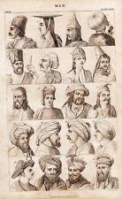 Antique Print Engraving 1859 Oliver Goldsmith - Ethnic Culture of Man 2 of 4