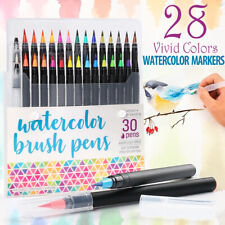 (30) Watercolor Brush Pens Paint Markers For Water Color Calligraphy Lettering