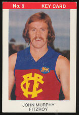 1975 Tip Top Sunblest VFL John Murphy Fitzroy Football Key Card No 9