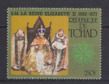 QEII 1977 Silver Jubilee MNH Stamp Set Chad Perforated (Tchad)