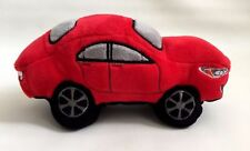 "NEW Plush Soft Toy Kids Red Car ""Subaru"" squeaker on both sides, L- 9 inch"