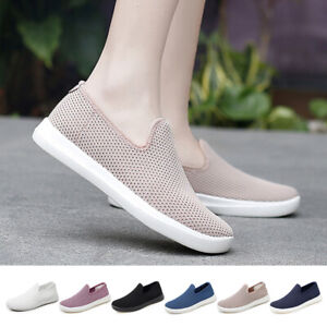 Womens Summer Knitted Mesh Sneakers Casual Breathable LightWeight Athletic Shoes