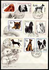 Hunde. 3 FDC. Polen 1963