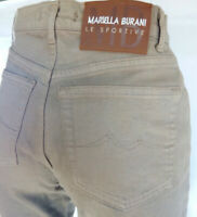 Women's jeans size 25 in. Burani brand brown Made in Italy high rise RRP £ 180
