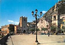 B110224 Italy Taormina IX Aprile Square with the Tower of XVIII Century