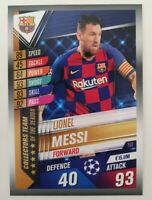 2020 Match Attax 101 Soccer Card - Lionel Messi Team of the Season Barcelona