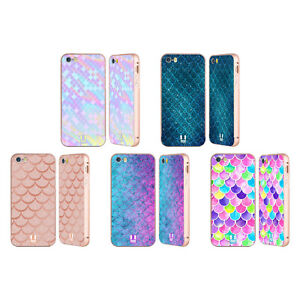 HEAD CASE MERMAID SCALES GOLD SLIDER CASE & WALLPAPER FOR APPLE iPHONE PHONES