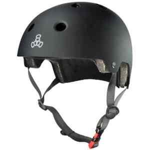 Triple Eight Skateboard Scooter Bike Helmet  Black Matt S/M 53-57cm UK SHIP FOC