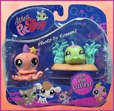 2007 Littlest Pet Shop 513 514 PEACH OCTOPUS PURPLE TEAL FISH PLEAE READ