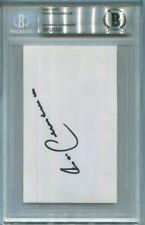 BAYERN MUNICH FRANZ BECKENBAUER signed autographed INDEX CARD BECKETT (BAS)