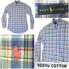 New listing Polo Ralph Lauren Mens Small (40in Chest) Multi-Colored Plaid Cotton Button Down