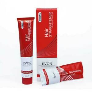 Evon Professional Strong Hair Straightener For Curly Frizzy Hair Protein Formula