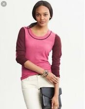 Banana Republic pink elbow patch sweater, S, NWT