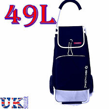 New EAGLE 49L LARGE LIGHT WEIGHT 2 WHEEL SHOPPING TROLLEY PULL CART BAG BLUE