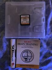 More Brain Training. Nintendo DS, 2DS, 3DS. No Sleeve On Box.