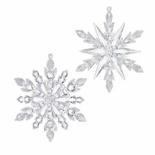 "Raz Imports 5"" Frosted Snowflake Ornament Set"