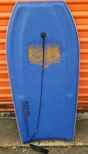 """Vintage Boogie Board Bodyboard 41"""" x 18 1/2"""" Blue White"""