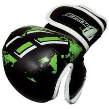NEW REVGEAR MMA GLOVES YOUTH DELUXE MMA BLACK/GREEN STRAP BAG GLOVE