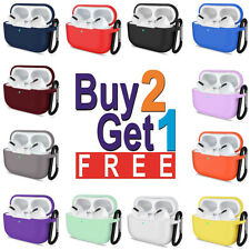 For Apple Airpods Pro 3 Case Silicone Shockproof Protective Cover With Keychain