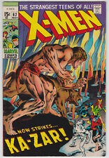X-Men #62 F+ 6.5 Cyclops Angel Beast Iceman Marvel Girl Ka-Zar Neal Adams Art!