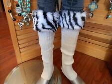 WESTERN LEG WARMERS LADIES ACCESSORIES SHOE LEGGINS COWGIRL ACCESSORIES LEOPARD