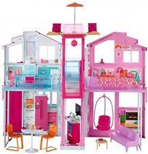 CASA di Barbie 3 livello Città Casa Play Set di Mobili di lavoro LIFT TOWNHOUSE Bambole
