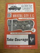 10/11/1962 Bristol City V Queens Park Rangers (lievi creasd). grazie per viewi