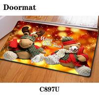 Welcome Christmas Doormat Floor Area Rug Anti-slip Mat Indoor Home Decorations