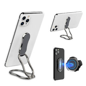 Magnetic Finger Ring Stand Grip 360° Rotating Cell Phone Mount Universal Holder