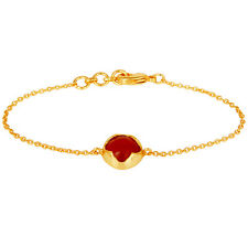 18K Gold Plated Handmade Moonstone Peach Fashion Chain Bracelet Designer Jewelry