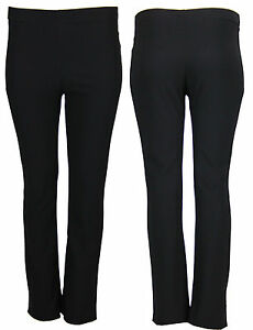 RIB Trousers Baggy Straight Boot Leg Pants J78